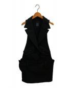 ()の古着「アームレスサロペット」|ブラック
