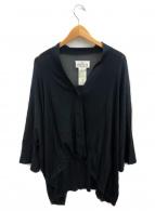 Maison Margiela 4(メゾンマルジェラ4)の古着「シルクドロップショルダーカーディガン」|ブラック