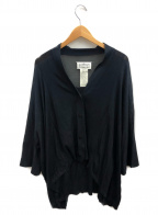Maison Margiela 4(メゾンマルジェラ4)の古着「シルクドロップショルダーカーディガン」 ブラック