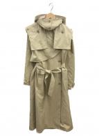muller of yoshiokubo(ミュラーオブヨシオクボ)の古着「トレンチフードコート」 ベージュ