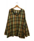 ()の古着「チェック柄プルオーバーシャツ」|ブラウン