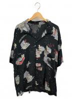 Porter Classic(ポータークラシック)の古着「ショウフォルクアロハシャツ」|ブラック