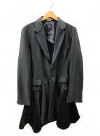 COMME des GARCONS HommePlus(コムデギャルソンオムプリュス)の古着「カットワークヘムテーラーコート」|ブラック