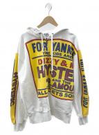Hysteric Glamour(ヒステリックグラマー)の古着「ディジー&ミルキーオーバーサイズパーカー」|ホワイト