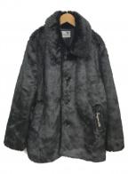 GANGSTERVILLE(ギャングスタービル)の古着「ファーミドルコート」|ブラック