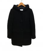 MONCLER()の古着「ウールダウンコート」|ブラック