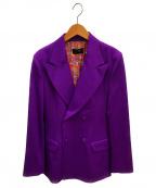G.V.G.V(ジーヴィージーヴィー)の古着「ダブルブレストジャケット」|パープル