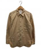 MARKAWARE(マーカウェア)の古着「ワイルドコットンツイルシャツ」|ベージュ