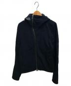 RALPH LAUREN BlackLabel(ラルフローレンブラックレーベル)の古着「ストレッチナイロンフードジャケット」|ブラック