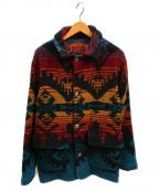 WOOLRICH()の古着「90sネイティブニットジャケット」|マルチカラー
