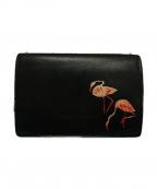 Saint Laurent Paris(サンローランパリ)の古着「3つ折り財布」 ブラック