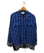 OLD PARK(オールドパーク)の古着「フリーストールシャツ」|ブルー
