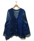 OLD PARK(オールドパーク)の古着「再構築デニムジャケット」|インディゴ