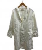 Yarmo(ヤーモ)の古着「リップストップダスターコート」 ホワイト