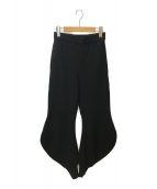()の古着「変形ウールイージーパンツ」|ブラック
