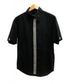 Y-3(ワイスリー)の古着「3ストライプ半袖シャツ」 ブラック