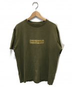 Palm Angels(パームエンジェルス)の古着「ボックスロゴTシャツ」|オリーブ