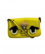 FENDI(フェンディ)の古着「マイクロモンスターショルダーバッグ」|イエロー