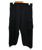 COMME des GARCONS(コムデギャルソン)の古着「ウールカーゴパンツ」 ブラック