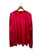 ()の古着「リバースシームグラデーションL/S Tシャツ」|ピンク