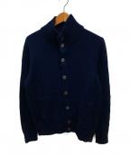 Zanone(ザノーネ)の古着「ウール ミドルゲージ タートルネックニットセーター」 ネイビー