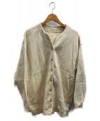 nest Robe(ネストローブ)の古着「ハニカムクルーカーディガン」|アイボリー
