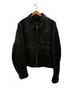 Lesco Leathers(レスコレザー)の古着「70sシングルライダースジャケット」|ブラック