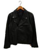 BANANA REPUBLIC(バナナリパブリック)の古着「ダブルライダースジャケット」 ブラック