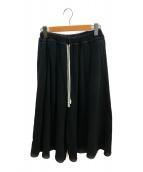 0658(0658)の古着「ビッグスウェット袴パンツ」|ブラック