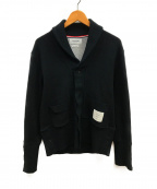 Thom Browne(トムブラウン)の古着「ショールカラースウェットジャケット」|ブラック