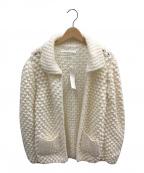 GALERIE VIE(ギャルリーヴィー)の古着「ウールハンドポップコーン カラードカーディガン」 ホワイト