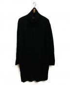 BLACK Scandal Yohji Yamamoto(ブラックスキャンダル ヨウジヤマモト)の古着「タートルカーディガン7Gインターシャ ハンニャ テング」 ブラック