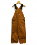 CarHartt(カーハート)の古着「ダブルニーダック地オーバーオール」|ブラウン