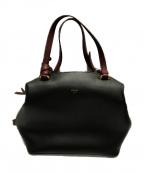 CELINE(セリーヌ)の古着「スモールソフトキューブ2WAYバッグ」|ブラック×ボルドー