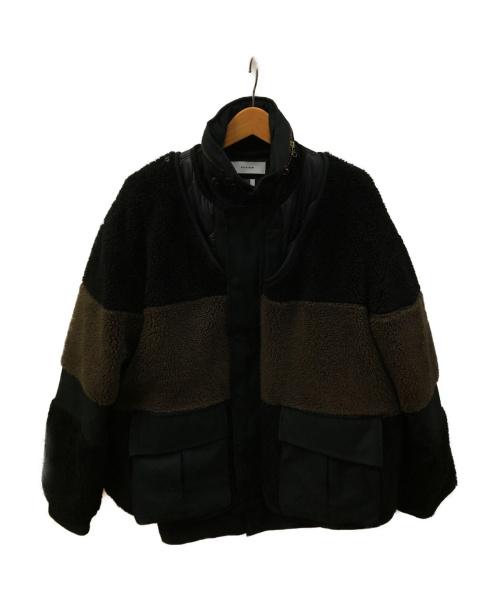 FACETASM(ファセッタズム)FACETASM (ファセッタズム) ボアM65ジャケット ブラック×ブラウン サイズ:4 BOA M65 PIPPA-JK-M10の古着・服飾アイテム