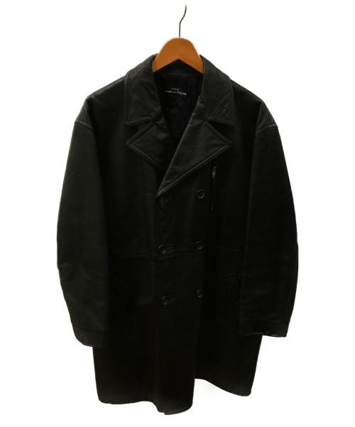 tricot COMME des GARCONS(トリココムデギャルソン)tricot COMME des GARCONS (トリコ コムデギャルソン) 80Sカウレザーダブルコート ブラック サイズ:下記参照 AD1988 TC080070 80 'ヴィンテージの古着・服飾アイテム