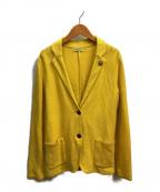 LARDINI(ラルディーニ)の古着「2Bジャケット」 イエロー