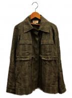 KENZO(ケンゾー)の古着「チェックジャケット」|ベージュ