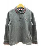MONCLER(モンクレール)の古着「長袖ポロシャツ」|グレー