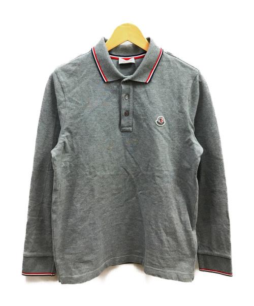 MONCLER(モンクレール)MONCLER (モンクレール) 長袖ポロシャツ グレー サイズ:Sの古着・服飾アイテム