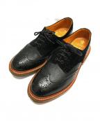 Trickers(トリッカーズ)の古着「バートンウィングチップシューズ」|ブラック