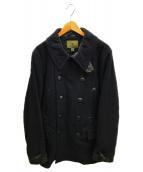 NIGEL CABOURN(ナイジェルケーボン)の古着「ミリタリーPコート」|ネイビー