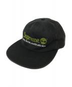 Supreme × Timberland(シュプリーム × ティンバーランド)の古着「コラボ6パネルキャップ」|ブラック