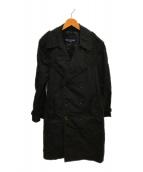 COMME des GARCONS HOMME(コムデギャルソンオム)の古着「ナイロントレンチコート」 ブラック