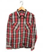 WTAPS(ダブルタップス)の古着「ヘビーウォンスチェックシャツ」 レッド