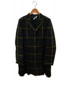 MULBERRY(マルベリ)の古着「アミープリーツコート」 グリーン×ネイビー