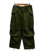 US ARMY(ユーエスアーミー)の古着「70'SM65トラウザー」 カーキ