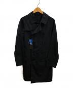 SANYO(サンヨー)の古着「ナイロンワッシャーダブルトレンチコート」|ブラック
