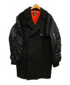 PAMEO POSE(パメオポーズ)の古着「ガンフラップコート」|ブラック