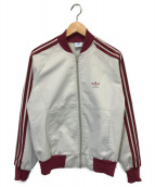 adidas(アディダス)の古着「80s トラックジャケット」|グレー×レッド